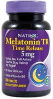 Melatoniini TR 5 mg Time Release 100 Tabletit