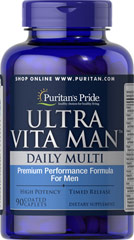 Ultra Man - Multivitamin - Zeitgesteuert - 90 Tabletten