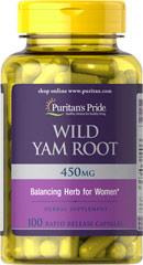 Wild Yam Root - Racine Igname Sauvage 405 mg 100 Capsules