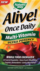 Alive! Whole Food Energizer Multivitamin 90 Tabletek