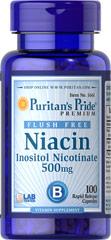 Niacin - Niacyna 500 mg Flush Darmowe 100 kapsulek
