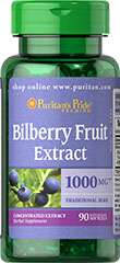 Bilberry - Myrtille 1000 mg 90 Gélules