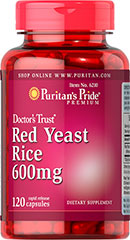Red Yeast Rice - Rode Gist Rijst 600 mg 120 Capsules