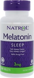 Melatonin 3 mg TR Time Release - 100 Tabletter