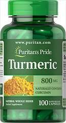 Turmeric - Curcuma 800 mg  100 Capsules