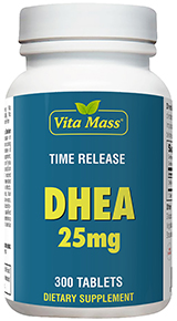DHEA 25 mg - TR Time Release - 300 Comprimidos