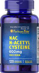 N-Acetyl Cysteine - N-Acétylcystéine 600 mg 120 Capsules