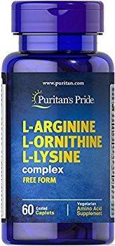 L-Arginine L-Ornithine L-Lysine 60 Tablets