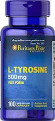 L-Tyrosine 500 mg 100 Capsules