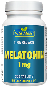 Melatonina 1 mg - TR Time Release - 300 Tabletek