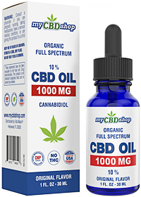 CBD OIL - 10 % - Full Spectrum - Organic - 1000 MG - 30ML