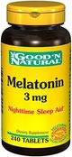 Melatoniini 3mg - Good N' Natural - 240 Tabletit