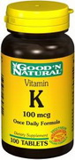 Vitamina K - 100 mcg 100 Compresses