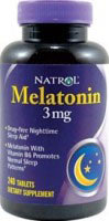 Melatoniini Natrol 3mg 240 tablettia