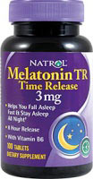 Melatoniini 3 mg TR Time Release - 100 Tabletter